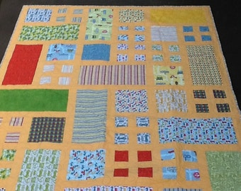 Cars Quilt-Goldenrod Borders