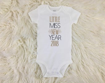 Little Miss New Year, New Years Outfit, Girls New Years Outfit, Baby New Years Outfit, My First New Years, New Years Eve