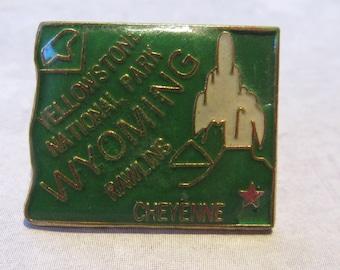 Vintage Hat Pin, Wyoming, Cheyenne