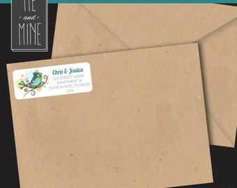 Spring Bird Return Address Labels