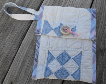 small bag, small purse, accessory bag, make up bag, pencil case, wristlet, handmade bag, repurposed bag, gift for her, fashion accessory