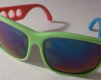1980's or 90's Neon Sunglasses Circle Cutouts Excellent!