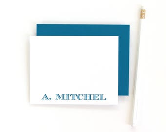 Personalized Mens Stationery Set Flat Personalized Stationary Custom Note Cards Business Stationery Mens Thank You Notes Personalised Cards