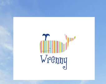 Striped Whale Stationery