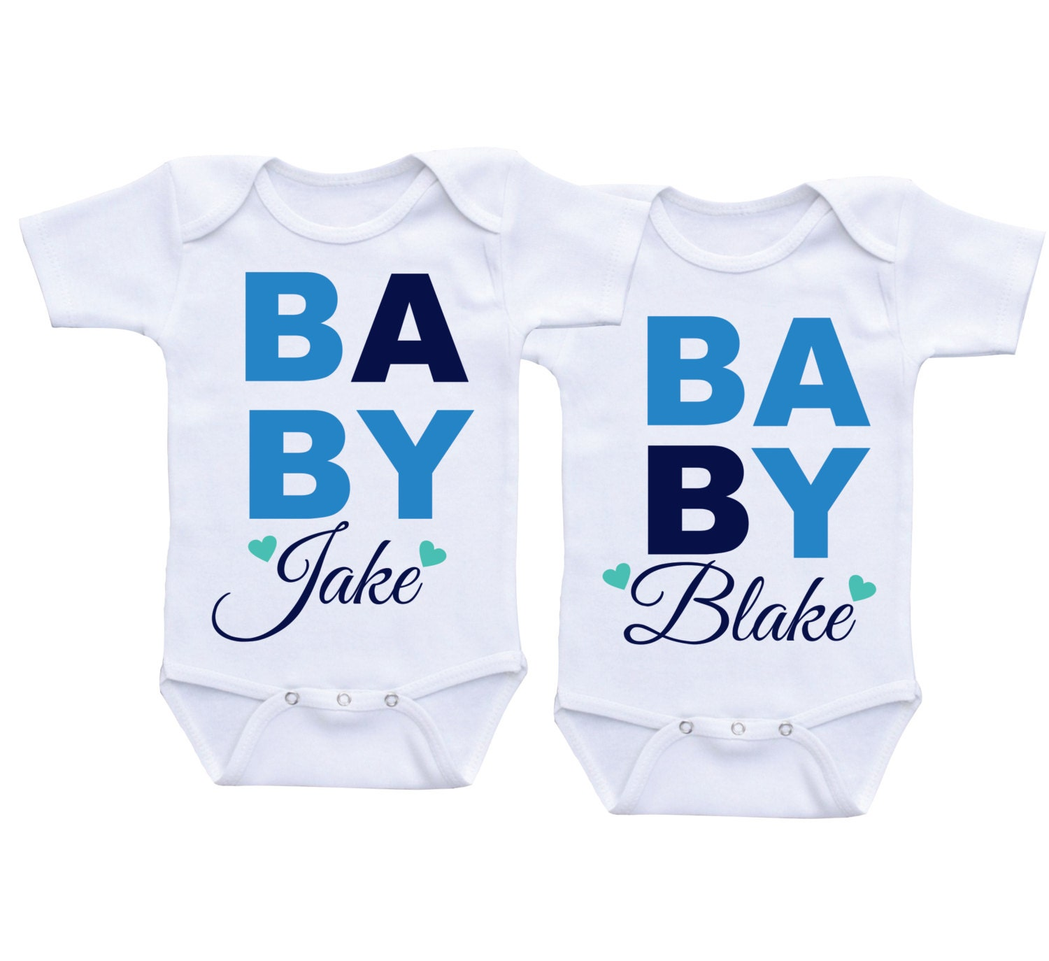 Cute Twin Onesie for baby boysTwins Onesie Clothing for
