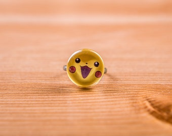 Ring Pikachu / Pokémon Ring / jewelry / ring Cabochon