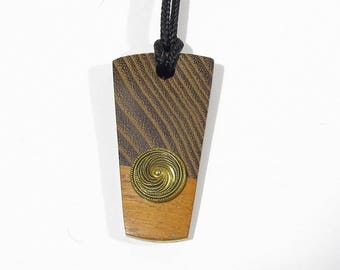 Women wood Pendant handcrafted