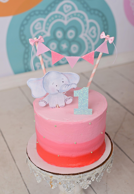 Elephant cake topper baby shower cake topper new baby cake topper