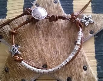 Leather Bracelet ⭐ star