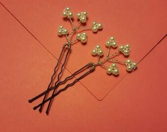 Wedding hair pins - Pearl hair pins for wedding - Pearl bobby pins for wedding - Bridesmaids hair - Bridal hair pins - Wedding bobby pins
