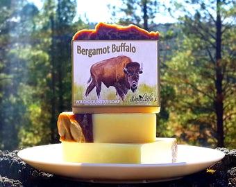 "Soap - ""Bergamot Buffalo"" Natural Soap, Animal Soap, Bergamot Soap, Country Soap, Handcrafted Soap, Men's Soap, Gift Soap, Men's Gift Soap"