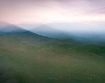 "mountain art, photography, the feeling of the blue ridge, appalachian, wall art - 20x24, 16x20, 11x14 or 8x10 photograph, ""Infinite"""