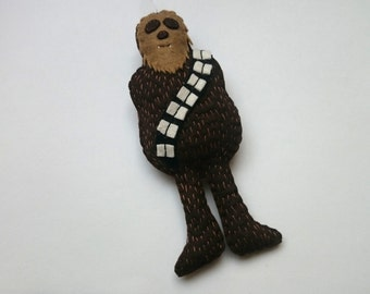 Chewbacca - felt Star Wars inspired  ornament SW home decoration for men for women for him for her may the force be with you - May4th