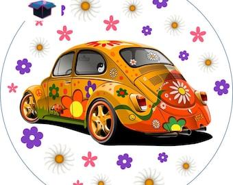 1 cabochon clear 25 mm Ladybug car theme