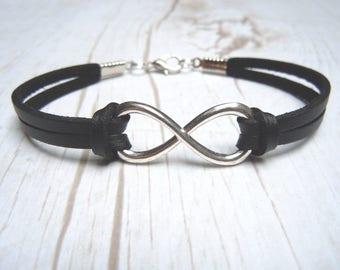Mens Infinity Bracelet, Silver Infinity, Gift For Him, BFF Friendship Bracelets, Boyfriend Jewelry, Fathers Day Gifts, Couple Bracelets