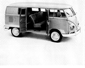 1964 VW Kombi Truck Station Wagon Take Out Seats-Original 13.5 * 10.5 Magazine Ad