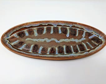 Coat of Many Colors Series Oval Tray
