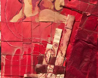 Abstract Representstional and Mixed media painting - March 2010 : Kiss