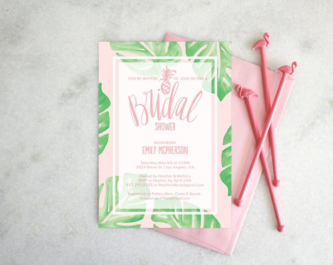 PRINTABLE Bridal Shower Invitation | Botanical Bride