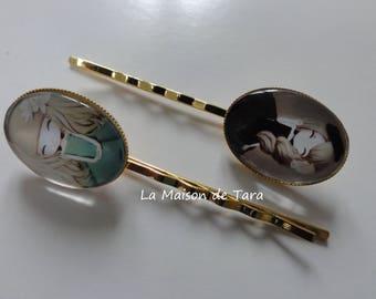 (Set of 2) - Cabochon Bobby pins