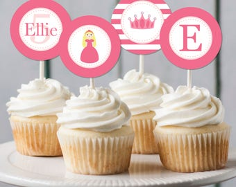 Printable Princess Cupcake Toppers