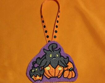 Embroidered Halloween Ornament - Pumpkaboo