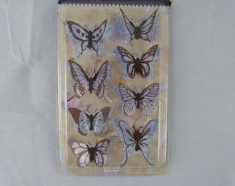 Sheet of stickers 3D blue butterflies