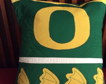 Oregon Duck Quilted Pillow cover