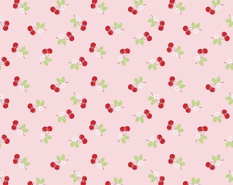 Pink Cherry 1 Yard Cut from Sew Cherry 2 by Lori Holt for Riley Blake Fabrics