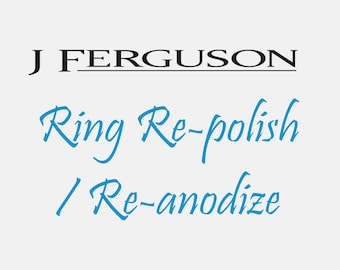Re-polish and Re-anodize your Ring.  For rings purchased at JFergusonCustomRings only.