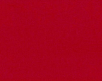 Cotton Fabric plain red 0.54yd (0,5m)