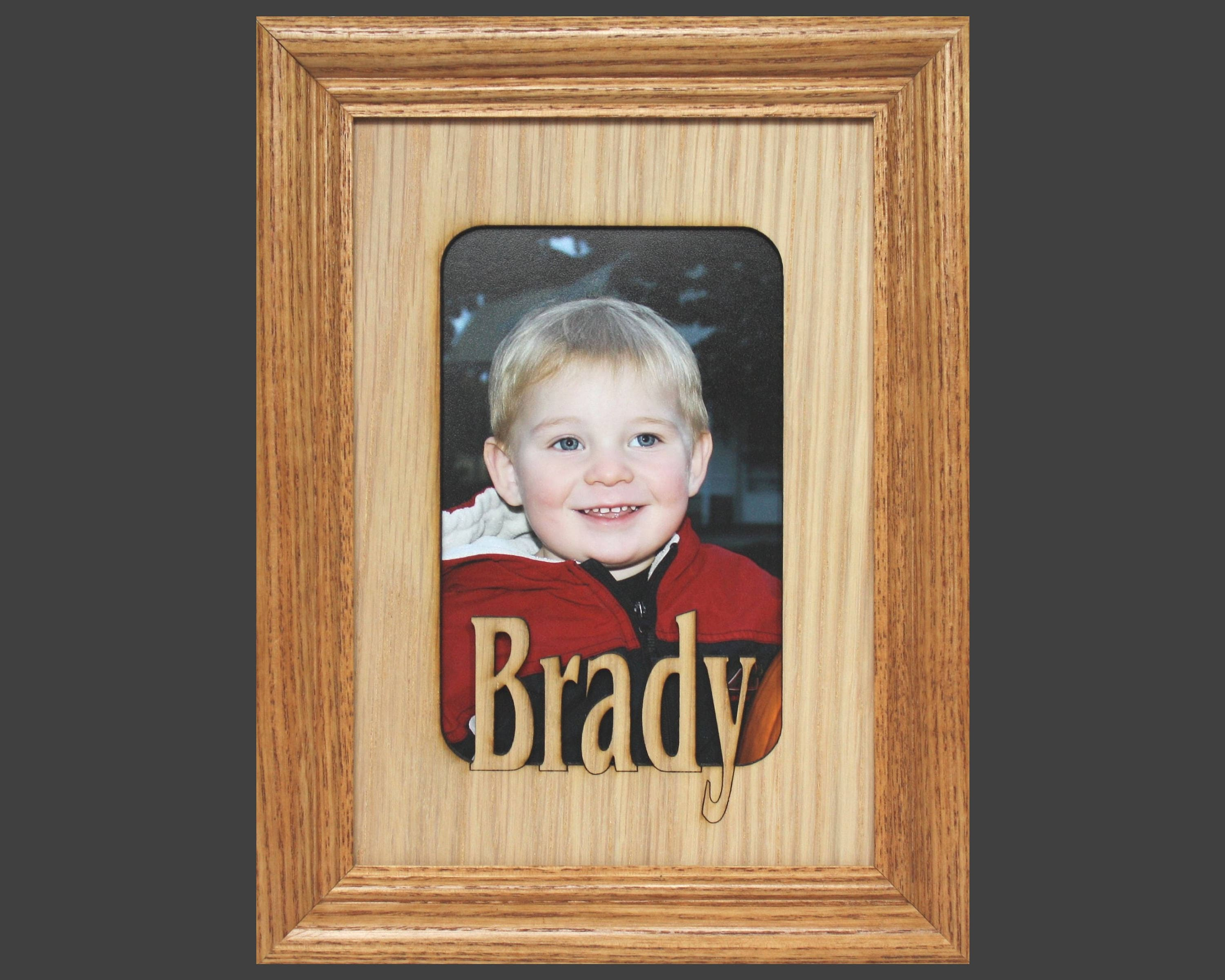 5x7 name frame personalized picture frame mat insert for 5x7 request a custom order and have something made just for you jeuxipadfo Images