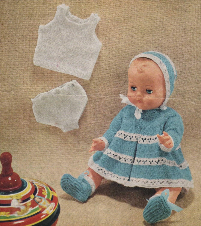 Dolls Clothes PDF Knitting Pattern : Tiny Tears . Baby Born