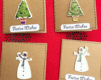 Festive Wishes Cards (Pack of 4)