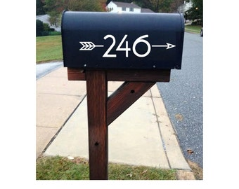 Mailbox Address Number Stickers with Decorative Arrow -  Car/Truck/Home/Macbook/