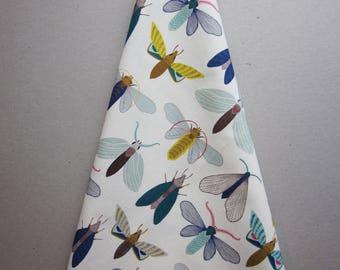 Moths and butterfly pattern tea towel