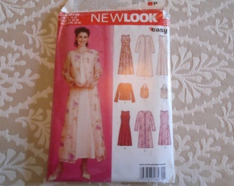 Simplicity New Look Pattern #  6270, Size  10-22 A-line dress and jacket, New Uncut, Facotory Folded