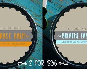 SALE! (1) Lemongrass Balm + (1) Breathe Easy Balm = (2) 8oz tins for 36