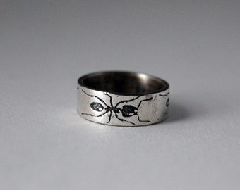 Insect Jewelry, Handmade Sterling Silver Ant Ring, Insect Jewellery, Insect Ring, Ant Jewelry, Entomology Gift, Entomologist Gift, Geek Gift