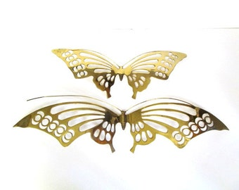 Vintage Brass Butterfly Wall Hangings