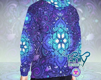 Hippie Clothes Psychedelic Clothing Men Psychedelic Hoodie Rave Hoodie Psytrance Hoodie Psy Trance Hoodie Psytrance Clothing Men Rave Wear