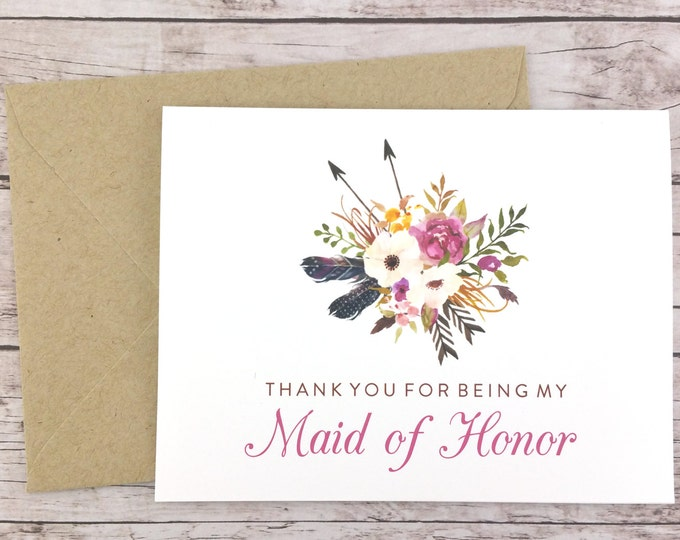 Thank You For Being My Maid of Honor Card (FPS0022)