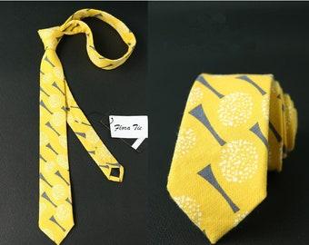 Yellow Necktie, Yellow Ties Wedding Neckties (1 pcs)