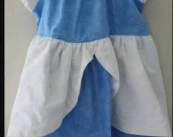 Cinderella Inspired Disney Princess Cotton Dress, Sizes 6M-8