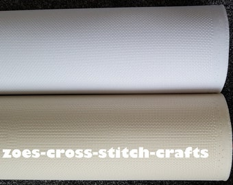Aida Fabric 10 Mtr Roll 14 Count White / Cream Aida Special Offer *FREE UK SHIPPING*
