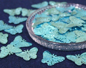 50 • Metallic Blue Butterfly Sequins