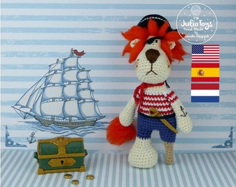 Pirate Lion - crochet pattern
