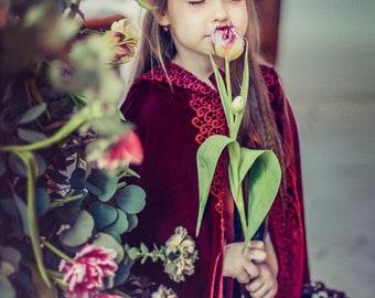 Princess Cloak, Dress Up Cape, Princess Cape, Hooded Cloak, Fairy Cape, Fairy Costume, Medieval Cape, Princess Dress Up, Girls Cape