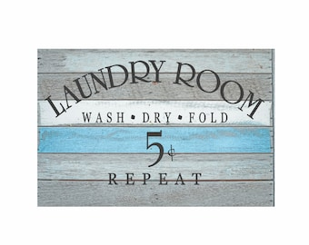 """Laundry Room Decor Laundry Room Decal Laundry Sign Vinyl Decal """"Wash Dry Fold Repeat"""" Vinyl Lettering Laundry Stickers Laundry Wall Decal"""