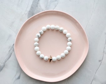 Love Affair - Marble Bracelet with Rose Gold Swarovski Crystal Element